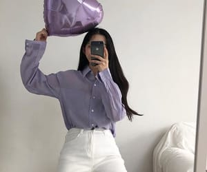 aesthetic, purple, and heart image
