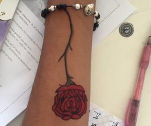 rosas, pluma, and rose image