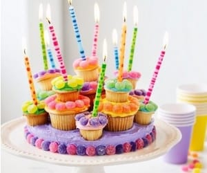 birthday, cupcake, and candle image