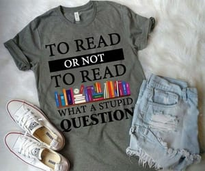 books, clothes, and reading image