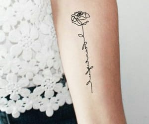 arm, flower, and girl image