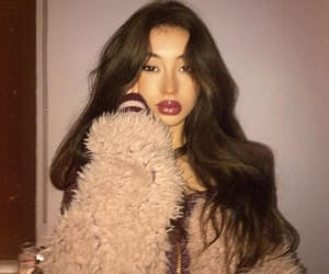 beauty, longhair, and red lips image