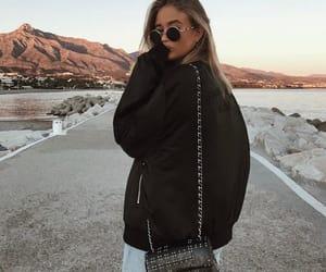 casual, pretty, and sunglasses image