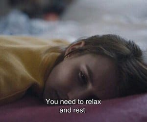 quotes, relax, and rest image