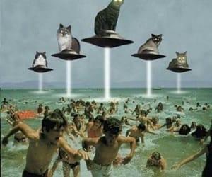 alien, beach, and ufo image