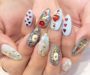 nails, nail inspiration, and japanese nail image