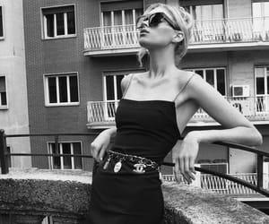 elsa hosk, model, and black image
