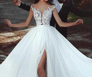 chiffon wedding dress and wedding dress a-line image