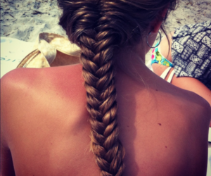 classy, hair, and fishtail braid image