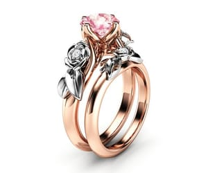 flower ring, camellia jewelry, and engagementring image
