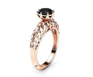 diamond, engagementring, and blackdiamond image