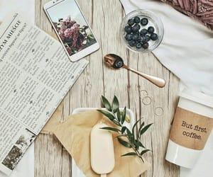 coffee, ice cream, and iphone image