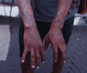 hands, veins, and iron man image