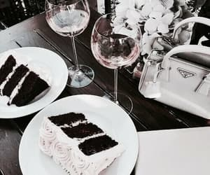cakes, drink, and white image
