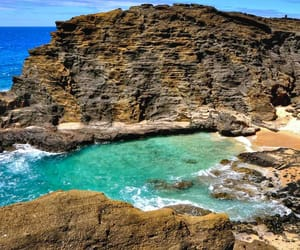 adventure, cliff, and hawaii image