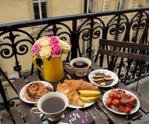 breakfast, coffee, and paris image
