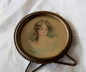 etsy, hand painted, and antique portrait image