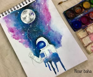 astronaut, blue, and colors image
