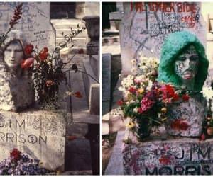 grave and Jim Morrison image