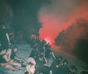 grunge, night, and smoke image