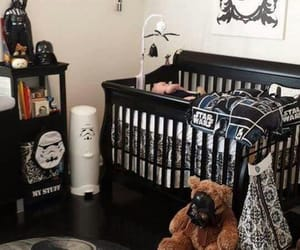 baby, bedroom, and geek image