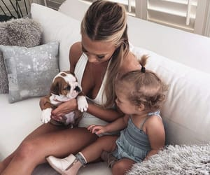 family, dog, and daughter image
