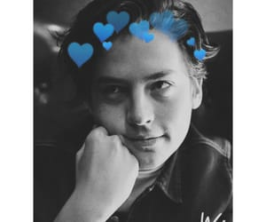 black and white, blue, and cole image