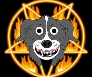 gif, 666, and black image
