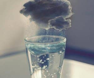 water, rain, and clouds image