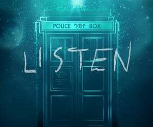 doctor who, listen, and tardis image