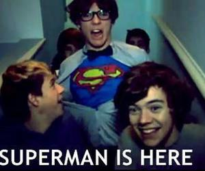 one direction, superman, and 1d image