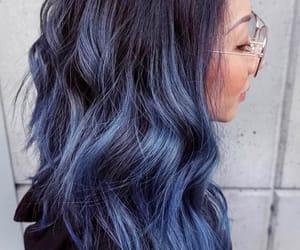 Bleu, blue, and girl image