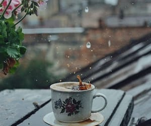 chilly, rain, and coffee image