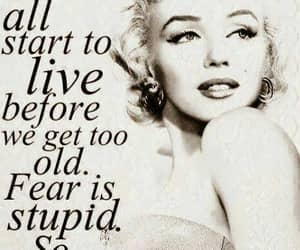 quotes, Marilyn Monroe, and live image