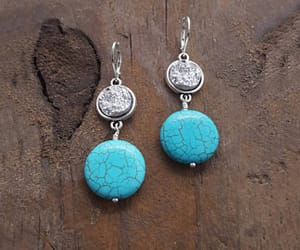 silver, summer, and turquoise jewelry image