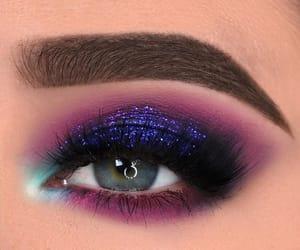 girl, blue, and makeup image