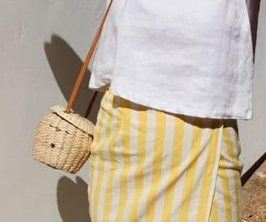fashiion, vintage, and yellow stripes image