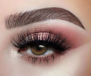 green eyes, lashes, and brows image