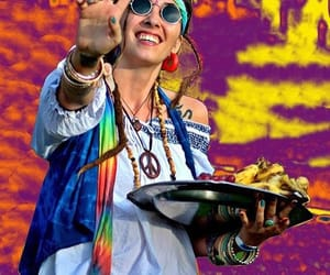 dreadlocks, tie dye, and hippie image