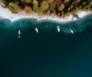 beach, satelite, and sea image