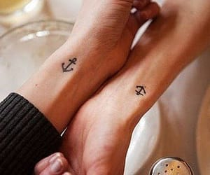 tattoo, anchor, and couple image