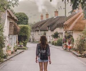 aesthetic, girl, and village image
