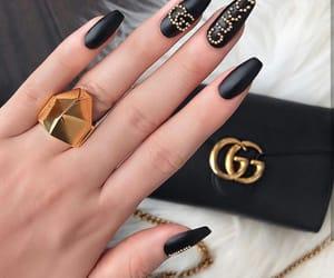 nails, gucci, and black image