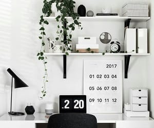 desk, white, and aesthetic image