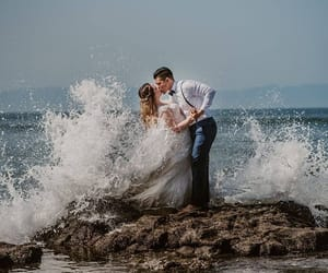 husband, picture, and weddings image