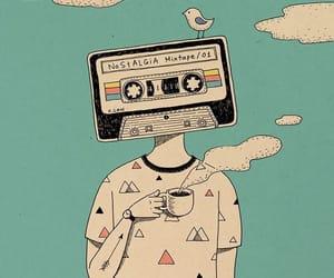 music, tea, and Ilustration image