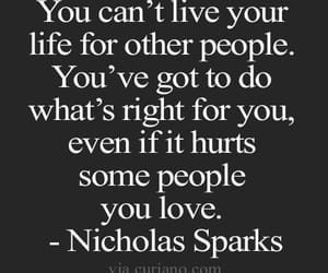 nicholas sparks, words, and quote image