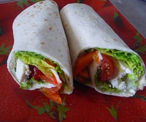 cheese, feta, and wraps image