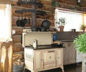 kitchen, rustic, and wood image