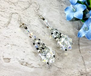 etsy, bridesmaid gift, and bead earrings image